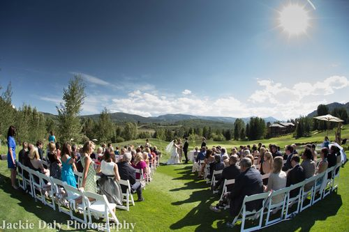 Aspen wedding photography snowmass club ceremony panorama