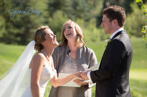 Aspen wedding photography snowmass club ceremony laughter and joy