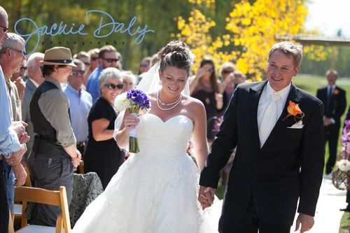 aspen wedding photography T Lazy 7 Ranch ceremony recessional