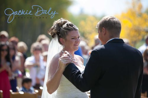 aspen wedding photography T Lazy 7 Ranch post ceremony