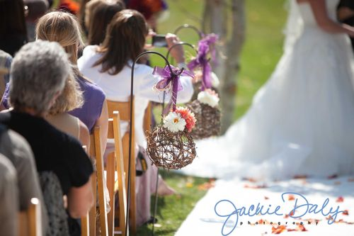 aspen wedding photography T Lazy 7 Ranch ceremony aisle decor